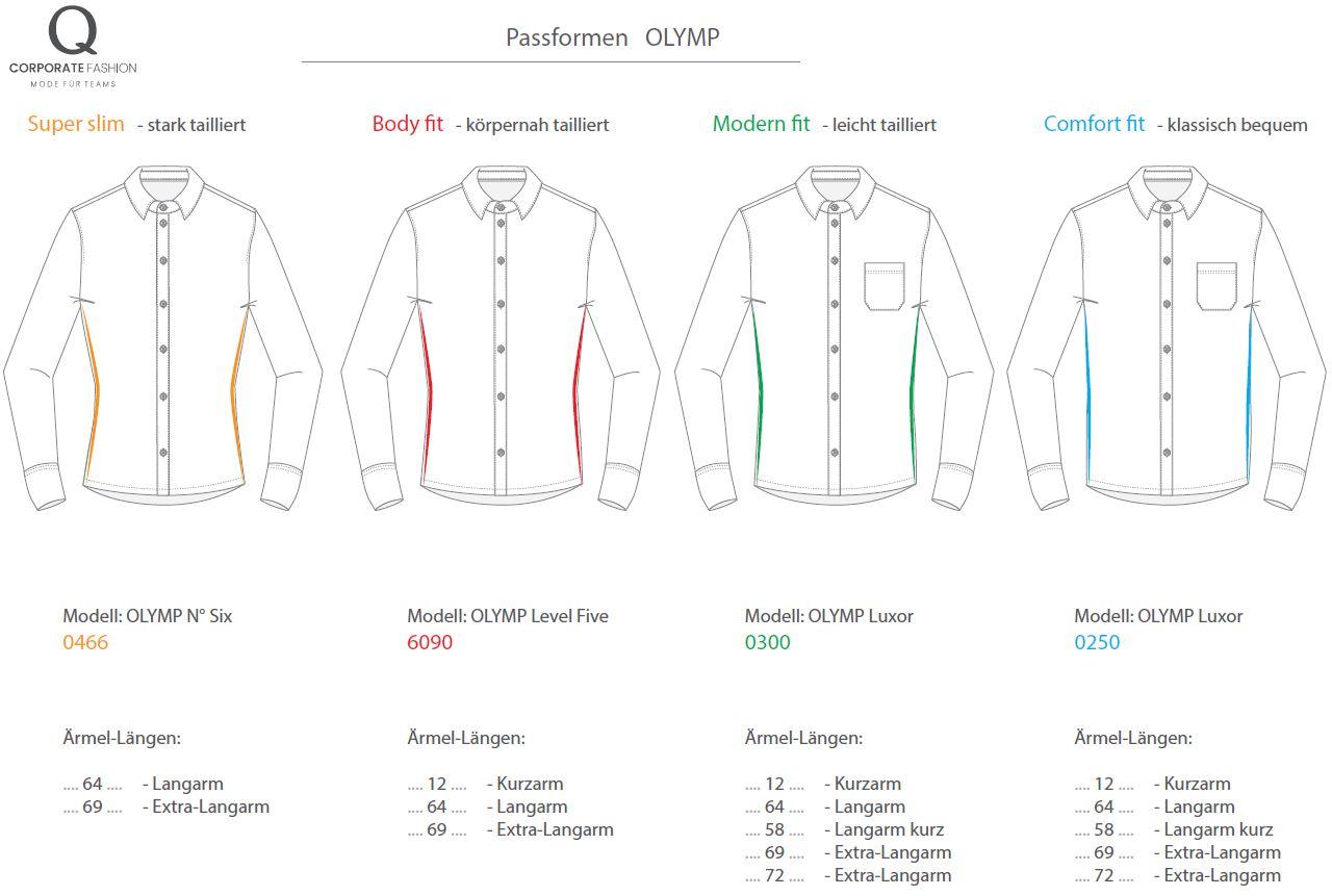 Olymp-Passformen-Hemd